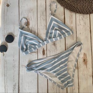 ZAFUL | Blue Striped Bikini